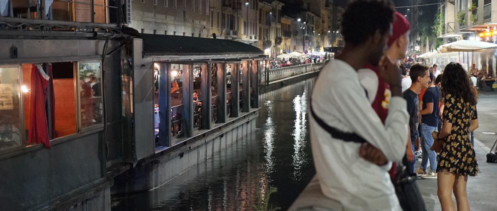 navigli kanäle Mailand nachtleben