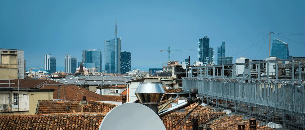 von der Highline Galleria sieht man die neue Skyline Mailands