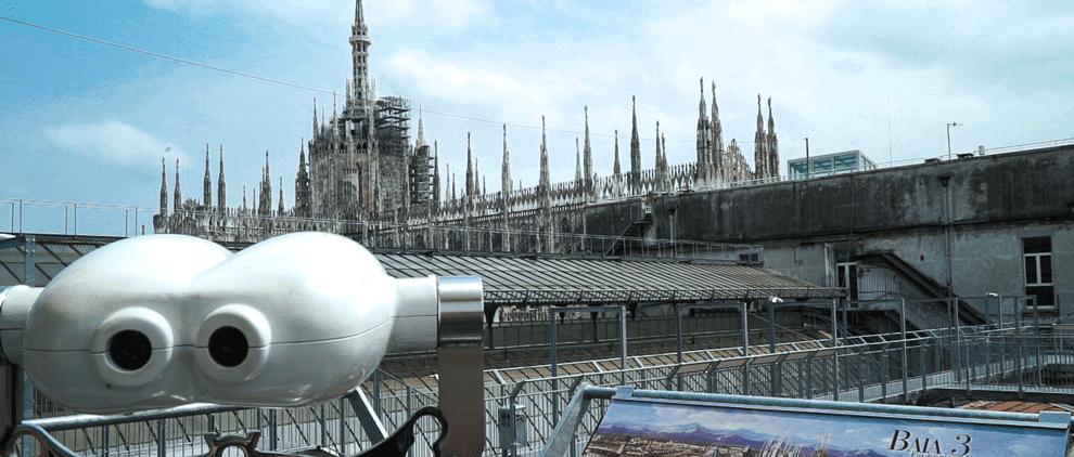 Blick mit neuer Perspektive auf den Mailänder Dom