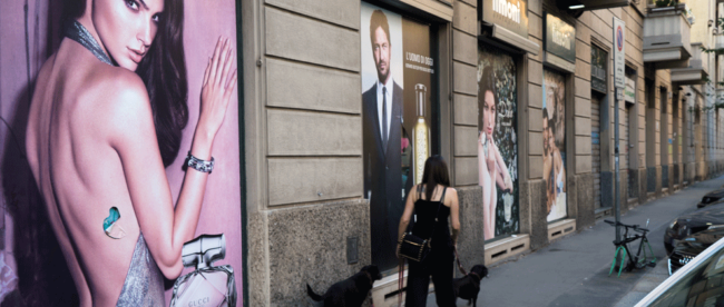 Mailand Gucci; copyright: Bernd Kulow / Mailand.de